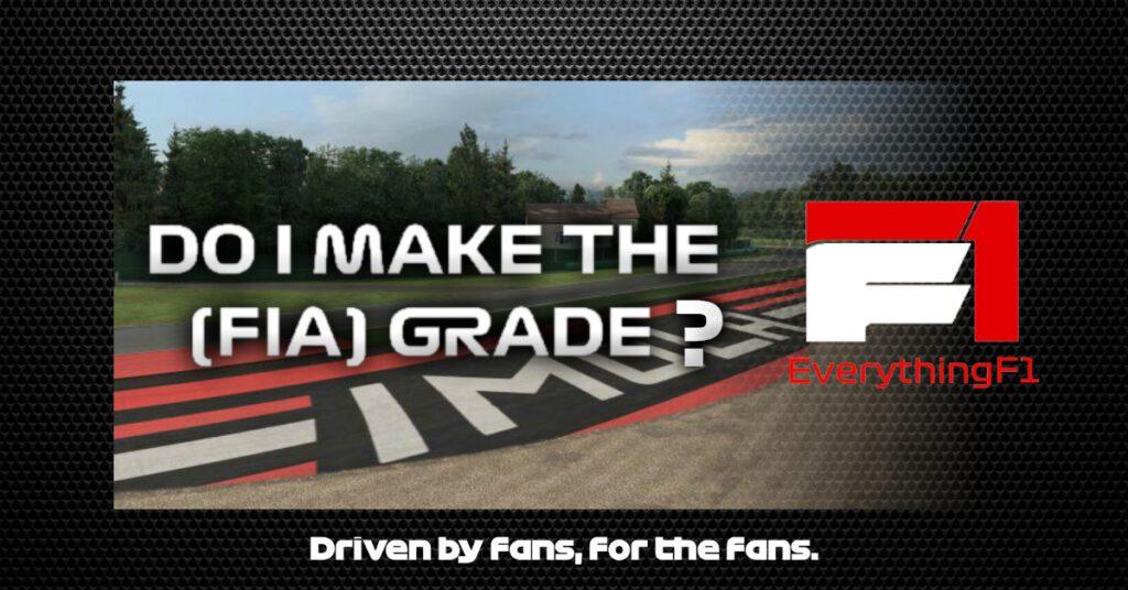 Do I make the (FIA) grade?