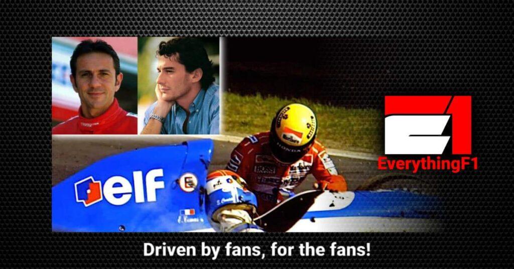 Ayrton Senna and Erik Comas